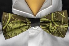 Steampunk Clockface Bow Tie Hair Bow Neck Tie Prom Bowtie Dickie  Feeanddave