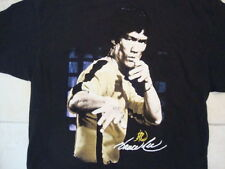 Bruce Lee Martial Arts Movie Star Yellow Jumpsuit Game of Death Black T Shirt XL