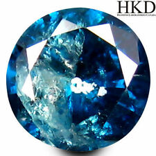 Round Blue Loose Natural Diamonds