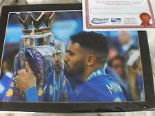 LEICESTER CITY F.C. Signed Photographs, Mahrez Ranieri 2015/16 Champions