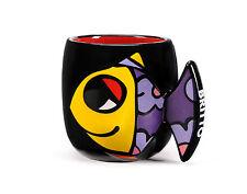 ROMERO BRITTO DEEPLY IN LOVE (FISH) BATHROOM CUP DISCONTINUED  *** NEW **