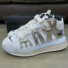 Nike Air More Uptempo 720 QS White Chrome Mens BQ7668 100 Men's Size 12