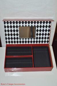 Bare Minerals Escentuals RED Paper Board Storage Box Jewelries Makeup Organizer