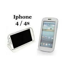 Funda Carcasa Inteligente Vista con Ventana IPHONE 4 4S Lámina Cover Blanco