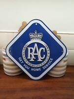 RAC automobilia advertising enamel sign