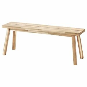 Ikea SKOGSTA Solid Wood Acacia Bench Table,Multipurpose use,Antique Look Bench