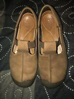 KEEN Womens Leather T-Strap Mary Jane Walking Shoes Flats Size 9 Brown