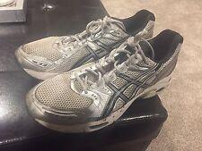 Rare Mens Asics Gel Evolution 5 Running Shoes Kayano Silver/Black/Blue 15 $139