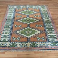Turkish Traditional Milas Carpet 4x6 Oriental Handknotted Wool Vintage Kilim Rug