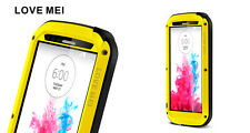Love Mei Metal Casing For LG G3 Spray Waterproof Stable Protection Yellow