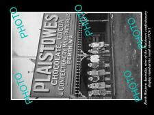 OLD LARGE HISTORIC PHOTO PERTH WESTERN AUSTRALIA, PLAISTOWES SWEETS STAND 1926 2