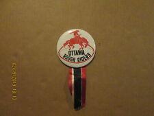CFL Ottawa Rough Riders Vintage 1970's Team Logo Football Pinback Button