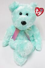 TY Beanie Buddy Sherbet, named 'Lime' Green Bear PRISTINE Brand New w/Mint Tags