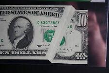 1990 $10 Dollar Bill Huge Gutter Fold ERROR- One of a kind, PCGS New CU 64PPQ