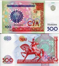Uzbekistan Uzbekistan 1999 500 Som So'm UNC Uncirculated Banknote Currency Money