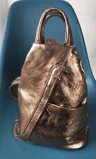 Rose Gold Medium Size Soft Real Leather Backpack Rucksack NWOT
