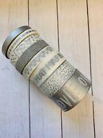 8 Rolls Sliver Glitter Washi Tape Tube Papercraft Planner Supply Love Wedding