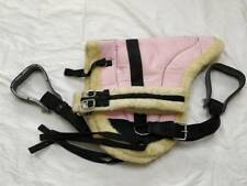 Micro Suede Padded Bareback Pad Faux Fur lined - Pink - Full