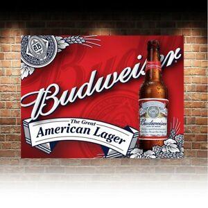 Bud Budweiser Beer Lager Advert Retro Vintage Metal Bar Pub Shed MAN CAVE SIGN