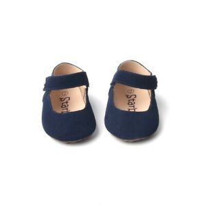Starbie Soft-Sole Baby Mary Jane Shoes Moccasins Toddler Dress shoes Navy Blue