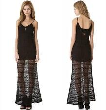 Chaser Spanish Lace Black Maxi Dress Size Medium