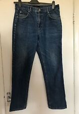 VALENTINE, SIZE 36 INCH WAIST, MID BLUE DENIM JEANS, PRE-LOVED