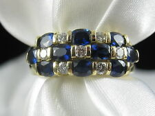 18K Blue Sapphire G/VS Diamond Ring Band Fine Jewelry SPARK CREATIONS $5500