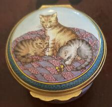 Halcyon Days Cat Theme Enamel Trinket Box Cats. New.