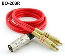 3ft 5-Pin DIN to 2-RCA Red Audio Cable, CablesOnline BO-203R