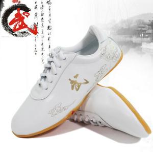 Men and women Tai Chi Wushu Kung Fu Wing Chun training soft leather shoes