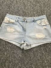 George lace trim denim shorts size 10