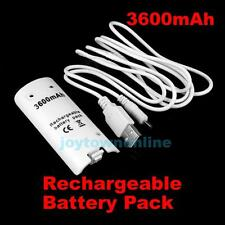 New 3600mAh Rechargeable Battery Pack for Game Nintendo Wii Via USB Cable