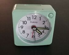 Peakeep Ultra Small Battery Travel Alarm Clock, Snooze, Glowing Hands, No Tick