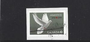 """Kanada 2018 Einzel Vogel Briefmarke """" Waffenstillstand Tag """" Fein Gebraucht"""
