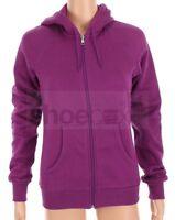 Nike Women's Purple Violet Full-Zip Hooded Soft Sweatshirt Hoodie Jacket B36