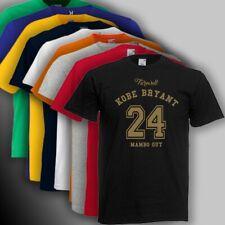 Camiseta basado kobe bryant 24 lakers mamba mambo out los angeles  ENVIO 24/48h