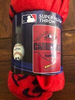 "St. Louis Cardinals Super Plush Throw Blanket 46""x60"" AUTHENTIC MLB"