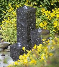 Ubbink Gartenbrunnen Granitsäulen Taranto mit Pumpe und Anschluss, NEUWARE