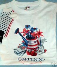 LOT GARDENING PATRIOTISM SHIRT AND SOCKS NWT STORE SALE