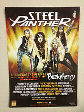STEEL PANTHER 2013 Australian Tour Poster A2 Balls Out Feel The Steel ***NEW***