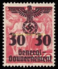 EBS Occupied Poland 1940 Sigmund II Augustus Swastika 30 Gr Michel 23 MNH**