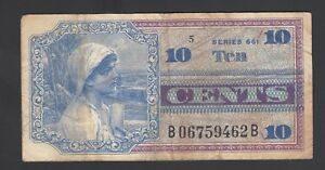 United States of America 10 Cents 1968   Fine P. M 65  Banknote, Circulated