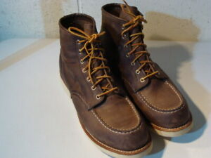 RED WING TAN HERITAGE CONCRETE MOC TOE #4548 BOOTS 13 D - MADE IN U.S.A. -  VGUC