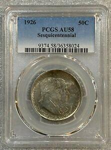 1926 Sesquicentennial Commemorative Half Dollar ~ PCGS AU58