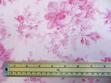 1 Metre Length Sausalito Cottage Floral Print Fabric - LS13001 Pink