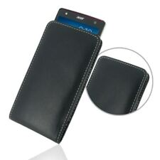 For Acer Liquid E3 E380 PDair Genuine Leather Vertical Pouch Case Cover - Black