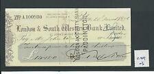 Wbc. - chèque forme-utilisée-années 1870-CHQ03-london & s western bank-st johns wd