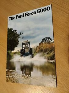 FORD FORCE 5000 TRACTORS COLOUR FARMING TRACTOR BROCHURE PRE USED IN VG COND