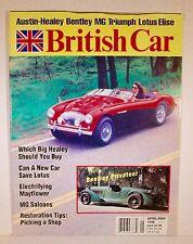 British Car Magazine April/May 1996 Austin Healy MG Bentley Triumph Lotus Elise