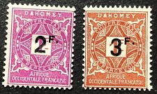 Dahomey Postage Due Stamps #J17-J18 Mh Full Gum 1927